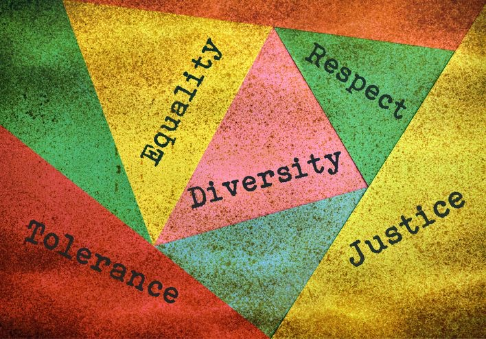 Equality, Diversity, Respect, Justice, Tolerance